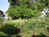 住宅団地内の土のすき取り工事